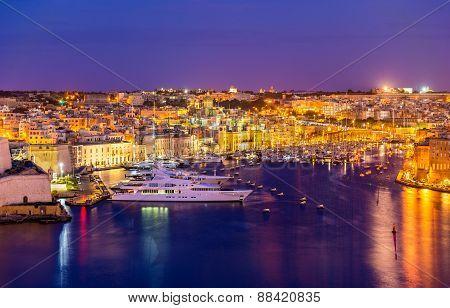 View Of A Marina Near Valletta - Malta
