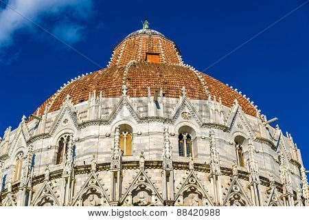 Details Of The Pisa Baptistry Of St. John - Italy