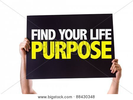Find Your Purpose card isolated on white poster