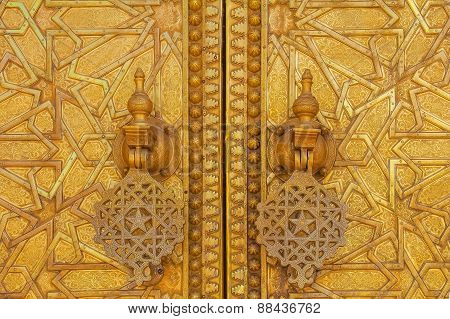 Gate to the palace of the king of Morocco in Fez Morocco poster