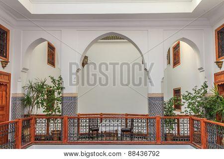 Courtyard In A Moroccan Riad