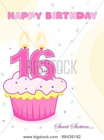 Sweet Sixteen Cupcake