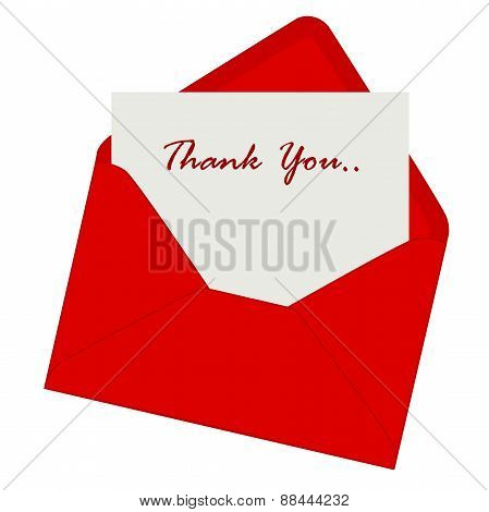 Thank You Card Red