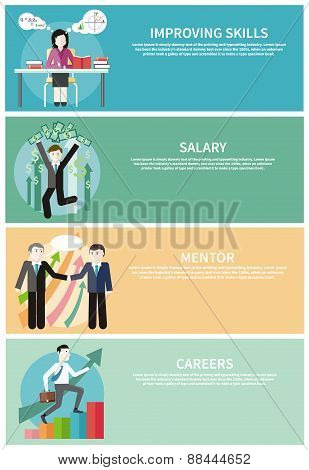 Improving Skills, Careers, Mentor, Salary Concept