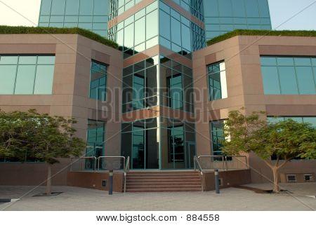 Glass Building Gate