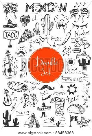 Big doodle set - Mexican