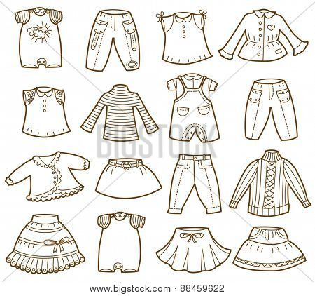 clothes collection (vector illustration)