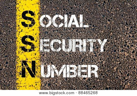 Acronym Ssn As Social Security Number