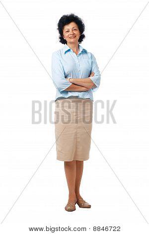 Confident Elder Woman Standing.