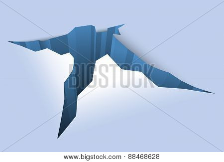 Ice Crack, Vector Illustration