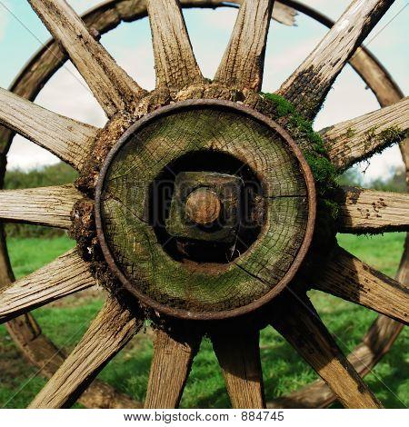 Antique Country Wagon Wheel