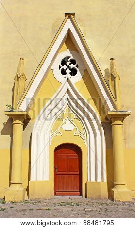 Entrance To Roman Catholic Cathedral Of The Exaltation Of The Holy Cross (xiii Century), Berehove, U