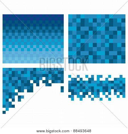 Square pixel mosaic background