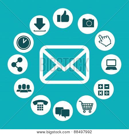 Email marketing design icons