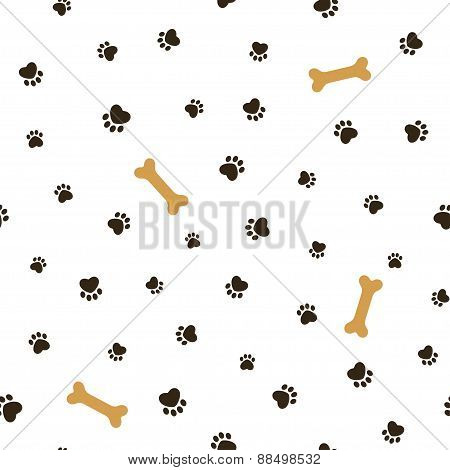 Dog theme seamless background