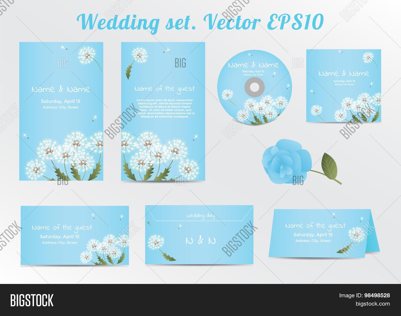 Set Floral Wedding Vector Photo Free Trial