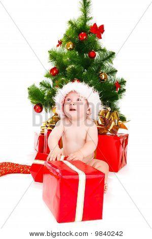 Astonished Christmas Baby