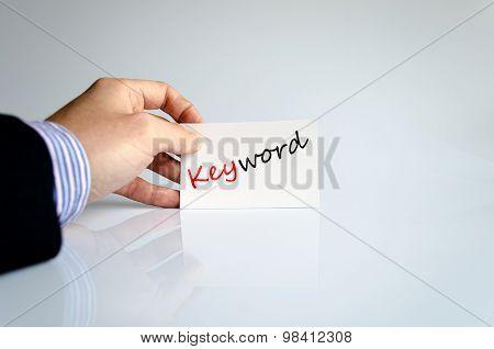 Keyword Text Concept