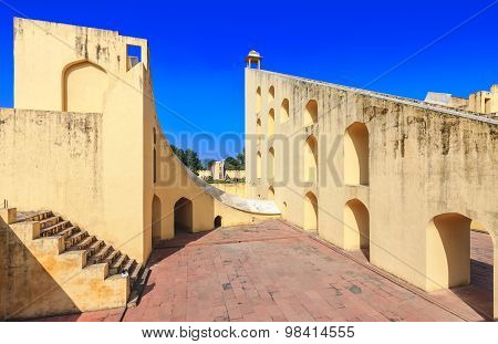 Jantar Mantar Observatory Complex In Jaipur, Rajasthan, India, Asia