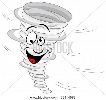 Cartoon Tornado On White Background