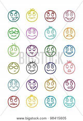 24 Smiles Icons Set 9