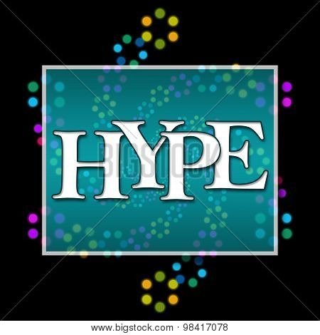 Hype Text Dark Colorful Neon