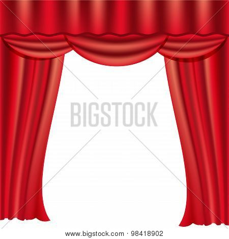 Theater Stage Red Open