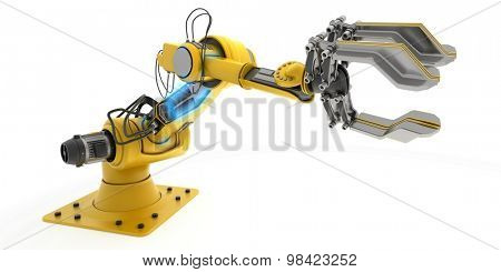3D Render of an Industrial Robot Arm