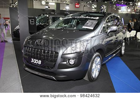 Bangkok - August 4: Peugeot 3008 Car On Display At Big Motor Sale On August 4, 2015 In Bangkok, Thai