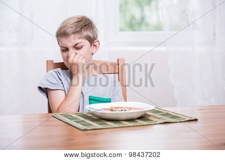 Child Refusing To Eat Soup