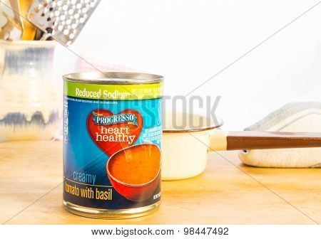 Can Of Tomato Basil Soup