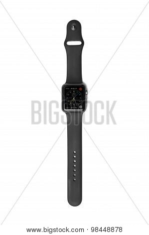 Apple Watch With Chronograph Face Screen