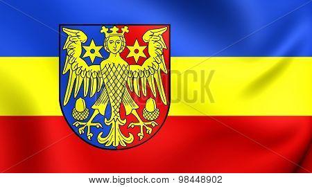 Flag Of Aurich Landkreis, Germany.