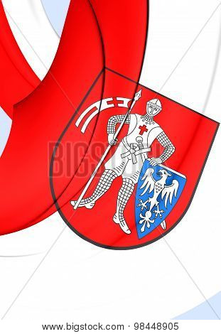Flag Of Bamberg City, Germany.