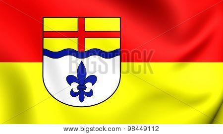 Flag Of Hoxter Kreis, Germany.