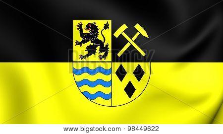 Flag Of Mittelsachsen Landkreis, Germany.