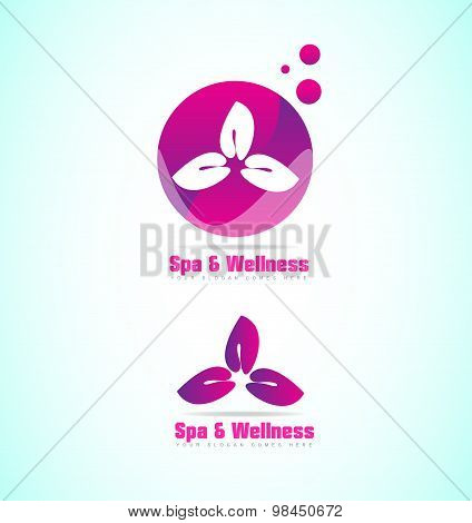 Spa And Wellness Relaxation Flower Logo