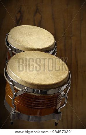 bongo on wooden background