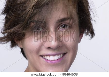 Close Up Of Woman's Face.