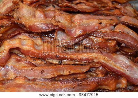 pile of bacon