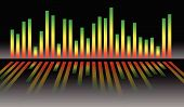 Eq equalizer graphics for audio playback multimedia concepts. poster