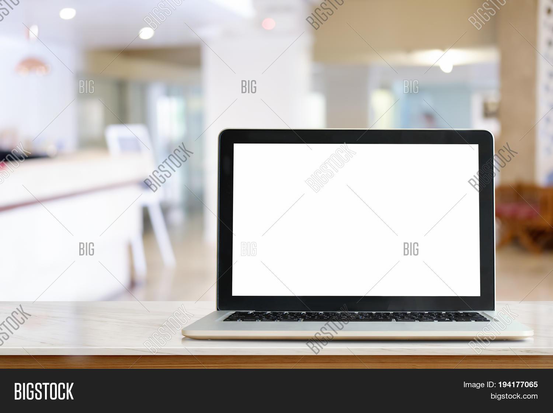 Imagen Y Foto Laptop On Marble Prueba Gratis Bigstock
