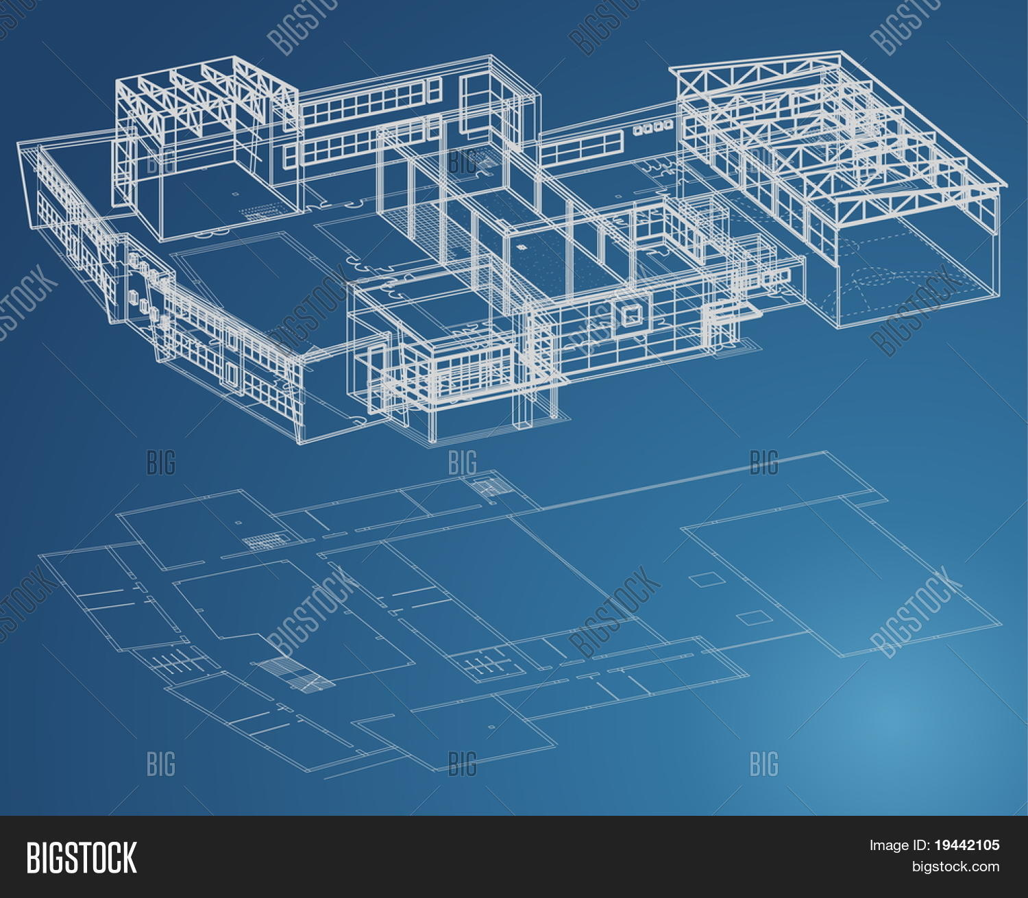 Blueprint plan school vector photo free trial bigstock blueprint plan of school building in third view and basic malvernweather