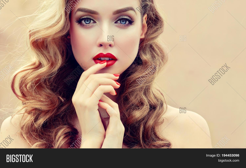 Beautiful Blonde Model Girl Long Image & Photo | Bigstock