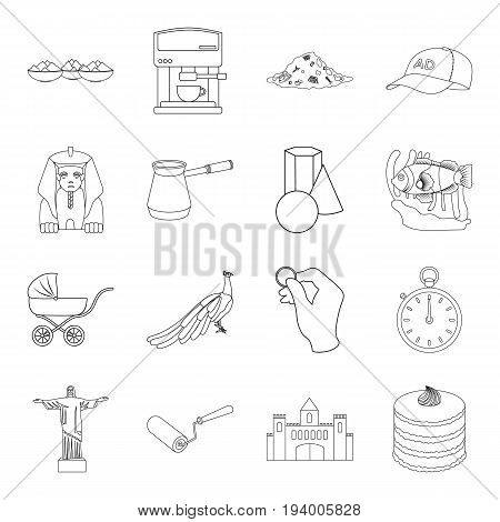 ecology, animals, finance and other  icon in outline style.cooking, interesting, building icons in set collection.