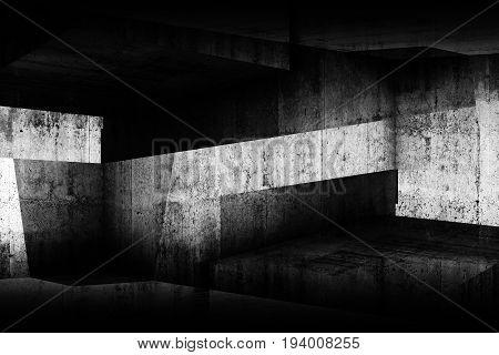 Abstract Dark Concrete Interior Background