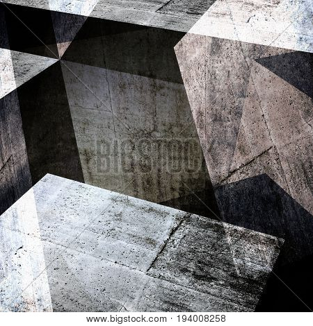 Abstract Concrete Background, 3 D Render