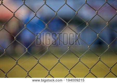 Wire mesh fence - Football field abstract