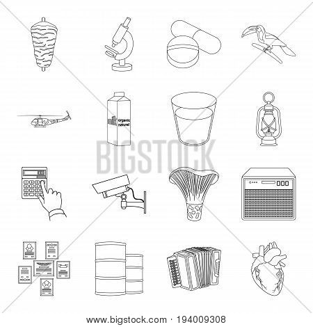 aorta, army, art and other  icon in outline style.food, education, animal icons in set collection.