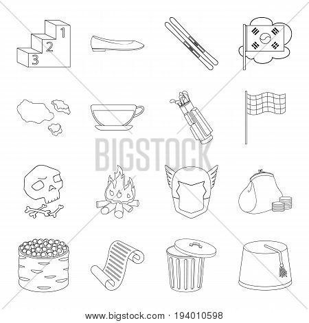 Business, history, food and other  icon in outline style.Space, fitness, country icons in set collection.